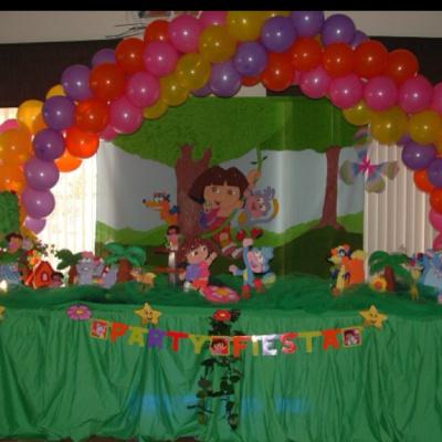 dora themed birthday party