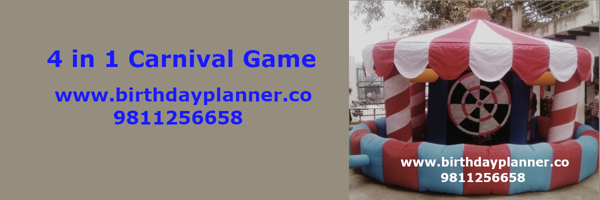 4 in 1 carnival game on rent delhi