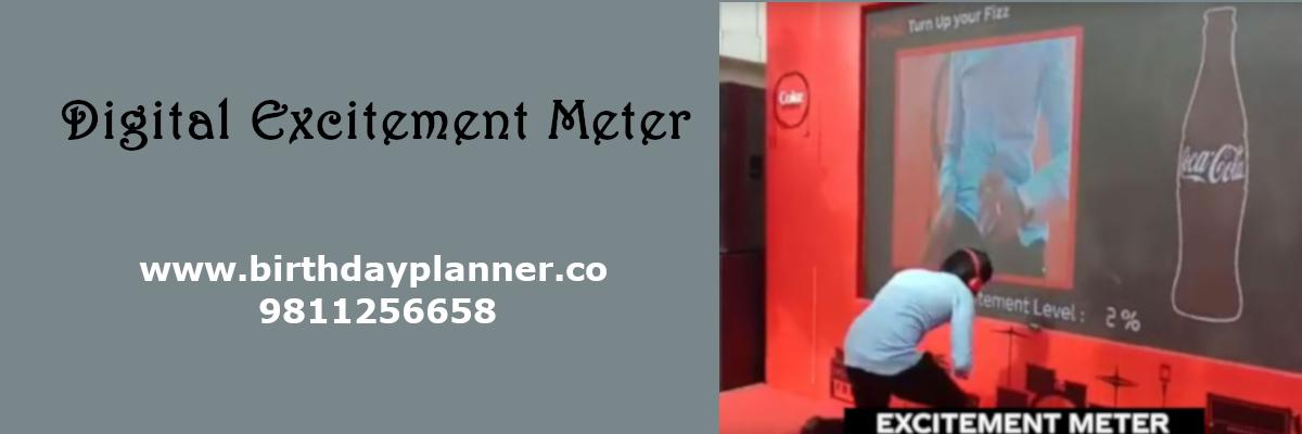 digital excitement meter on rent