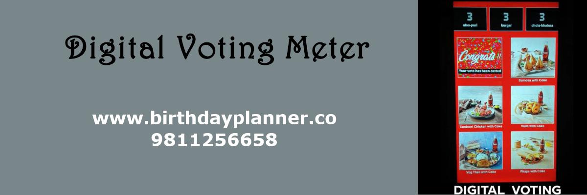 digital voting meter on rent