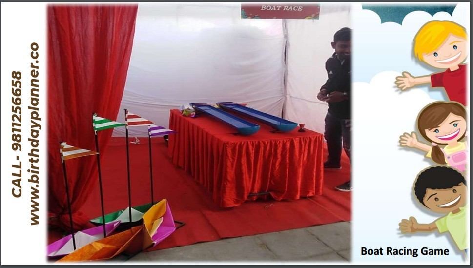 Hire Boat Racing Game for Birthday Party in Delhi