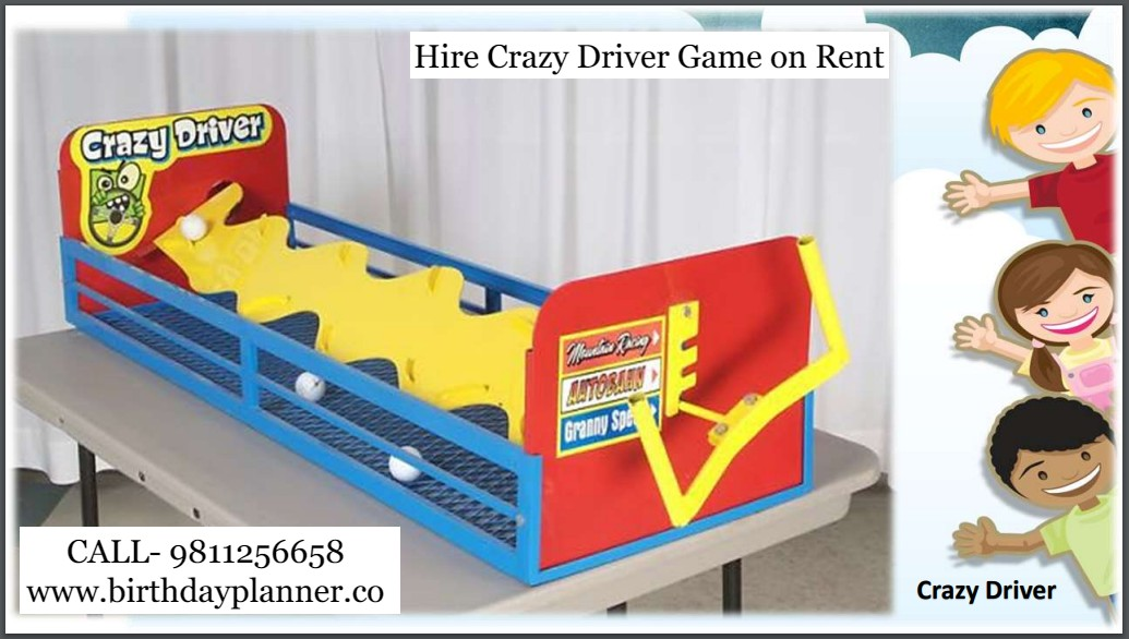 Hire Crazy Driver Game on Rent for Birthday Party