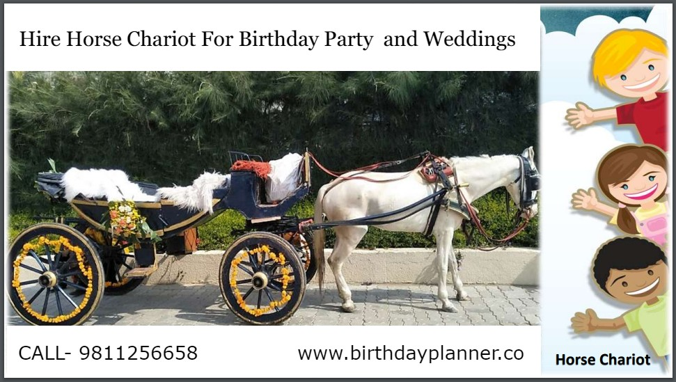 Hire Horse Chariot For Birthday Party