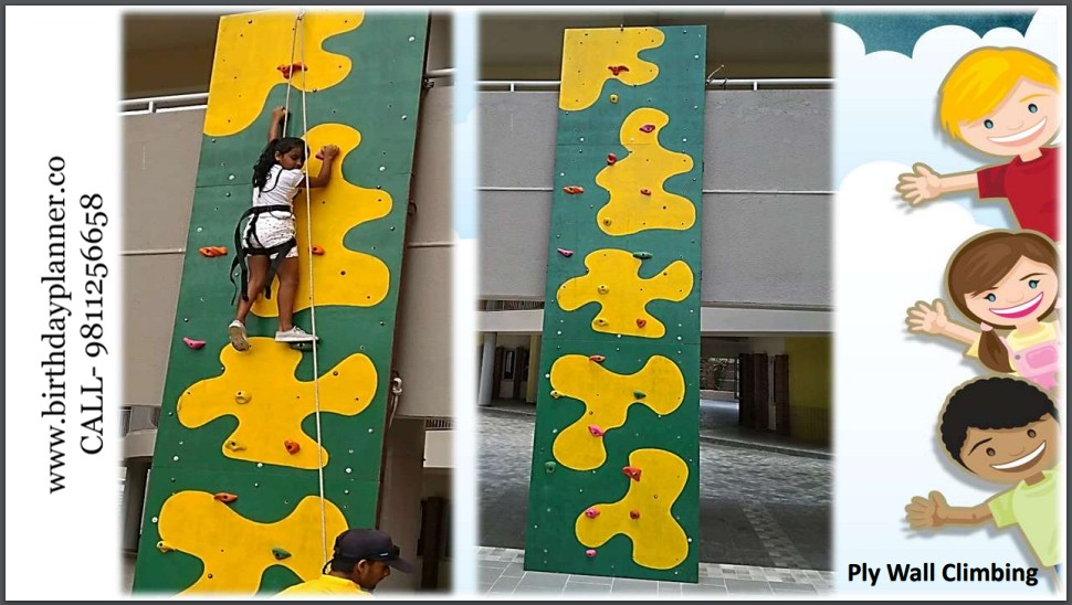 Hire a Ply Wall Climbing Game for Birthday Party