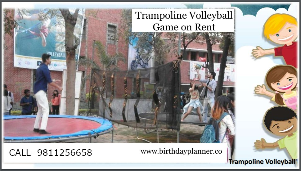 Hire Trampoline Volleyball Game on Rent